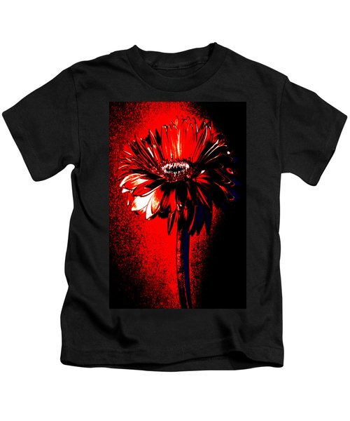 Bloody Mary Zinnia Kids T-Shirt by Sherry Allen