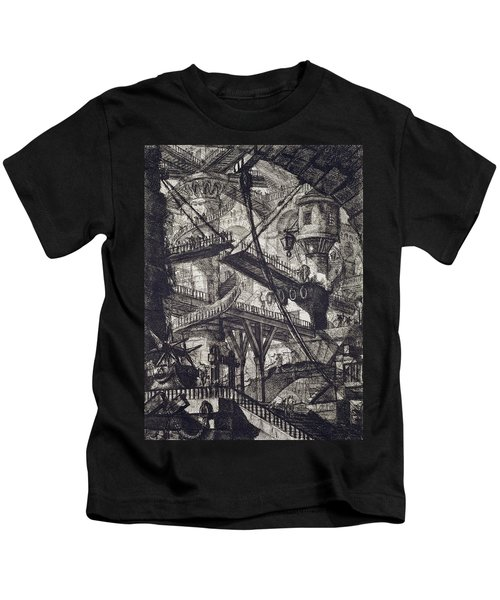 Carceri Vii Kids T-Shirt by Giovanni Battista Piranesi