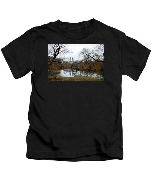 Central Park And San Remo Building In The Background Kids T-Shirt by RicardMN Photography