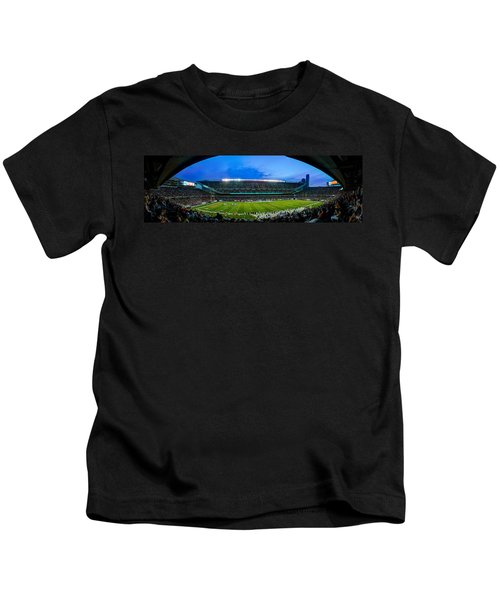 Chicago Bears At Soldier Field Kids T-Shirt by Steve Gadomski