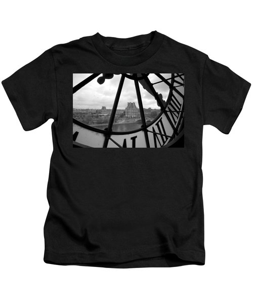 Clock At Musee D'orsay Kids T-Shirt by Chevy Fleet