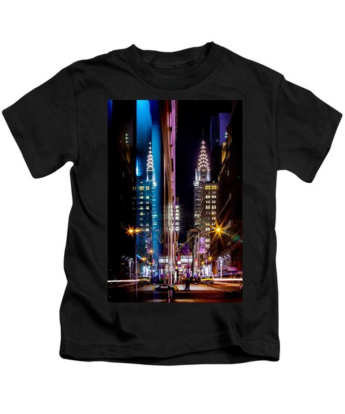 Color Of Manhattan Kids T-Shirt by Az Jackson