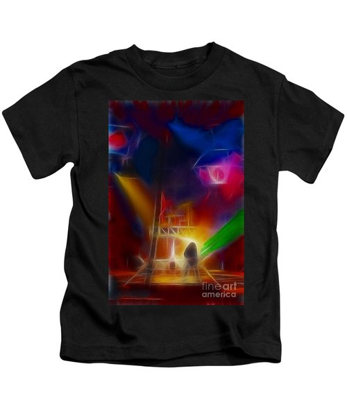 Def Leppard-adrenalize-gf10-fractal Kids T-Shirt by Gary Gingrich Galleries