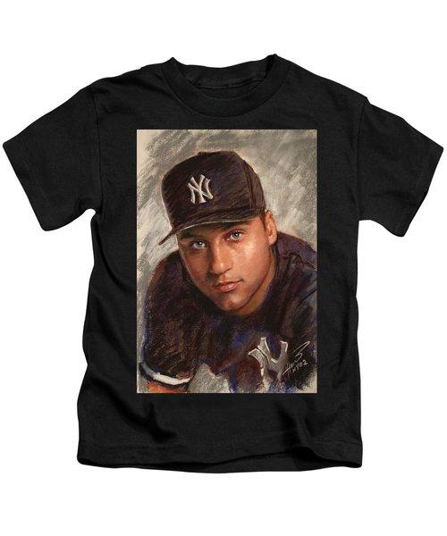 Derek Jeter Kids T-Shirt by Viola El