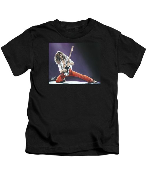 Eddie Van Halen Kids T-Shirt by Tom Carlton