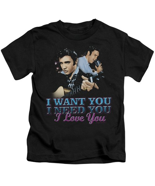 Elvis - I Want You Kids T-Shirt by Brand A