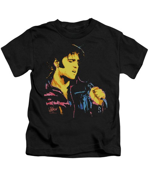 Elvis - Neon Elvis Kids T-Shirt by Brand A