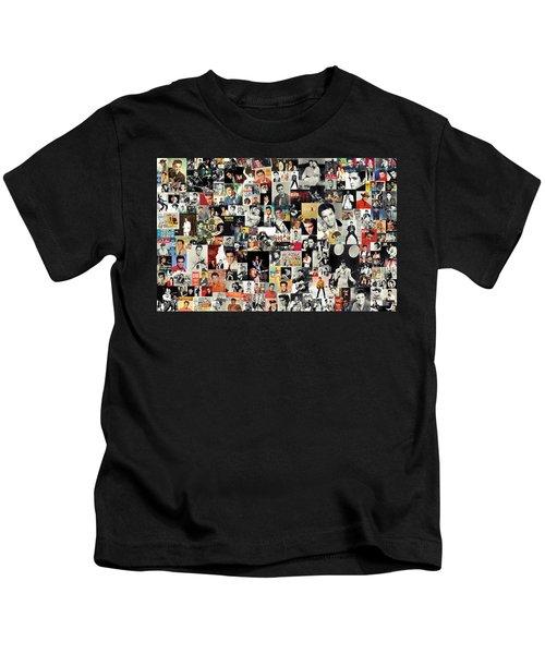 Elvis The King Kids T-Shirt by Taylan Soyturk
