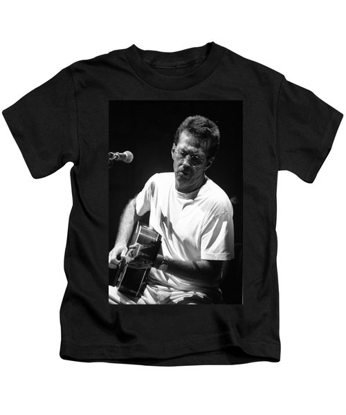 Eric Clapton 003 Kids T-Shirt by Timothy Bischoff