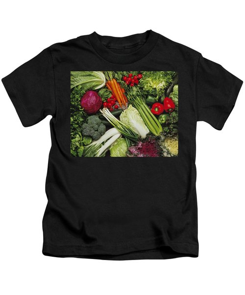 Food- Produce, Mixed Vegetables Kids T-Shirt by Ed Young
