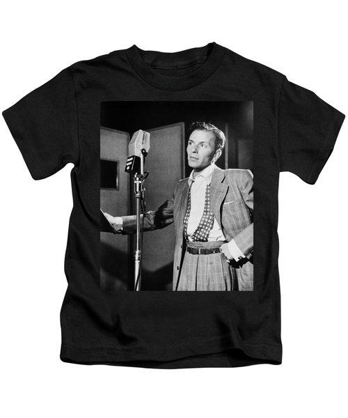 Frank Sinatra Kids T-Shirt by Mountain Dreams