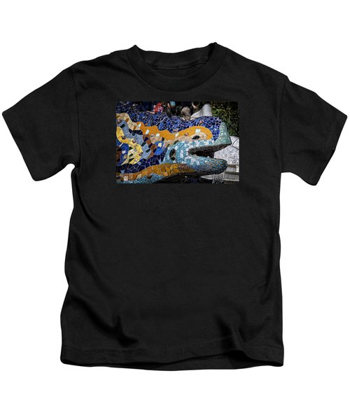 Gaudi Dragon Kids T-Shirt by Joan Carroll
