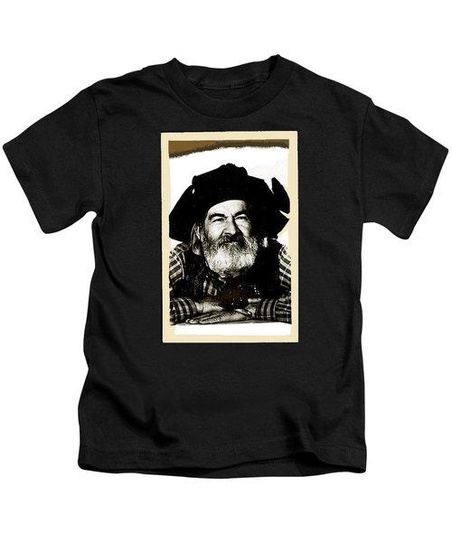 George Hayes Portrait #1 Card Kids T-Shirt by David Lee Guss