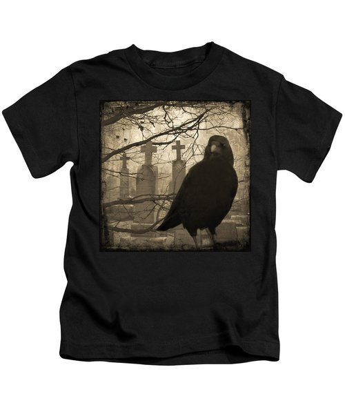 Her Graveyard Kids T-Shirt by Gothicrow Images
