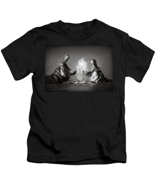 Hippo's Fighting Kids T-Shirt by Johan Swanepoel