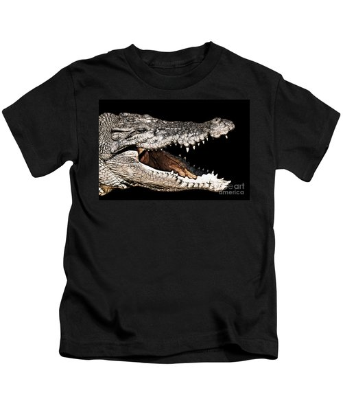 Jaws Kids T-Shirt by Douglas Barnard