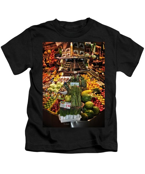 Jewels From The Market  Kids T-Shirt by Mary Machare