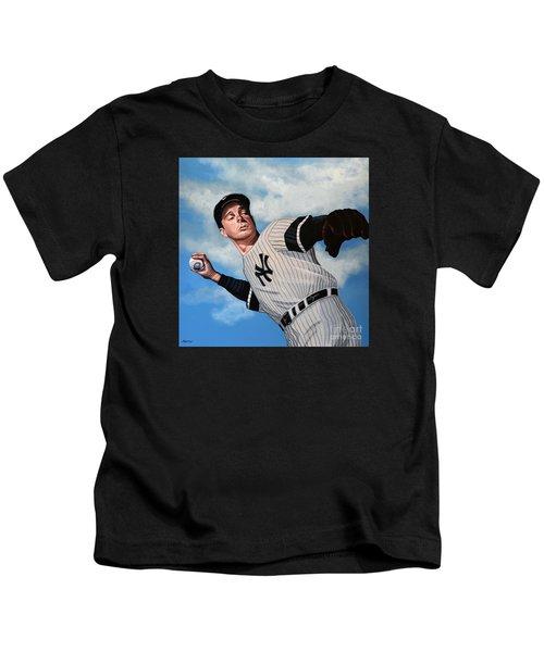 Joe Dimaggio Kids T-Shirt by Paul Meijering