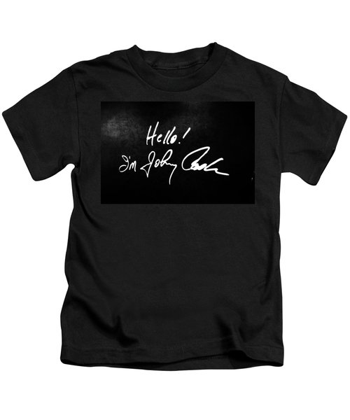 Johnny Cash Museum Kids T-Shirt by Dan Sproul
