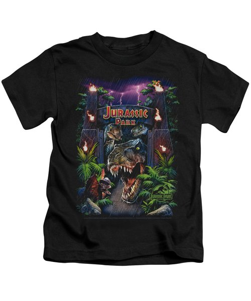 Jurassic Park - Welcome To The Park Kids T-Shirt by Brand A