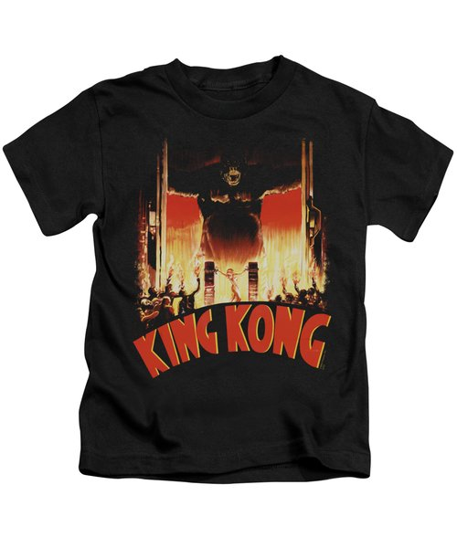 King Kong - At The Gates Kids T-Shirt by Brand A