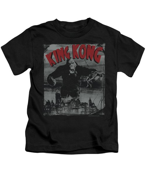 King Kong - City Poster Kids T-Shirt by Brand A