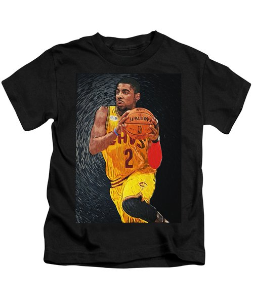 Kyrie Irving Kids T-Shirt by Taylan Apukovska