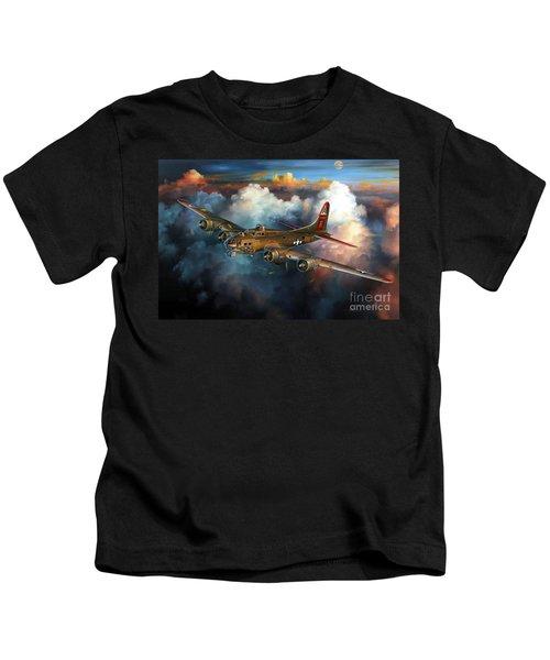 Last Flight For Nine-o-nine Kids T-Shirt by Randy Green