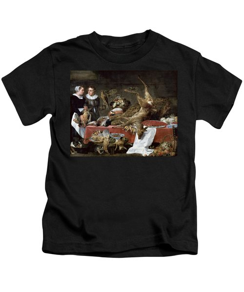 Le Cellier Oil On Canvas Kids T-Shirt by Frans Snyders or Snijders