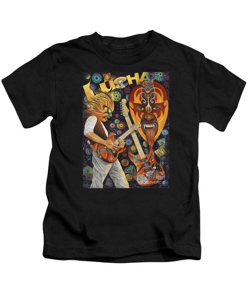 Lucha Rock Kids T-Shirt by Ricardo Chavez-Mendez