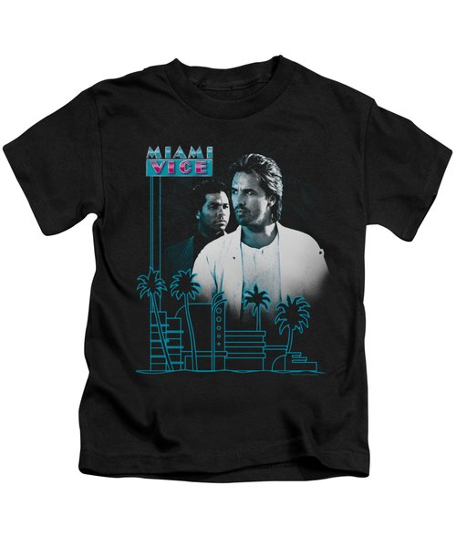 Miami Vice - Looking Out Kids T-Shirt by Brand A