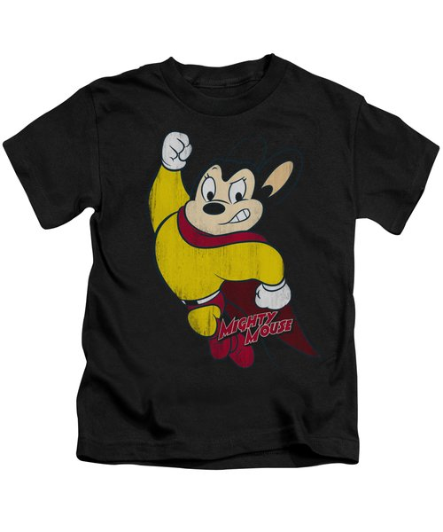 Mighty Mouse - Classic Hero Kids T-Shirt by Brand A