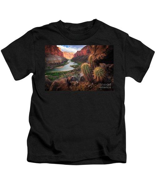 Nankoweap Cactus Kids T-Shirt by Inge Johnsson