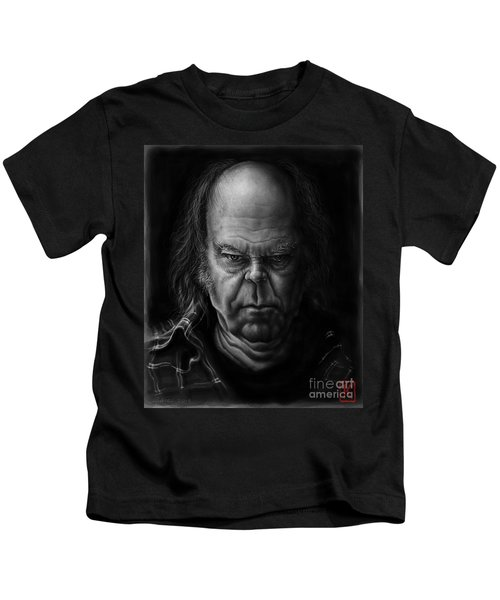 Neil Young Kids T-Shirt by Andre Koekemoer