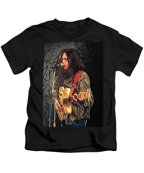 Neil Young Kids T-Shirt by Taylan Soyturk