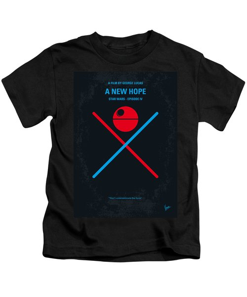 No154 My Star Wars Episode Iv A New Hope Minimal Movie Poster Kids T-Shirt by Chungkong Art