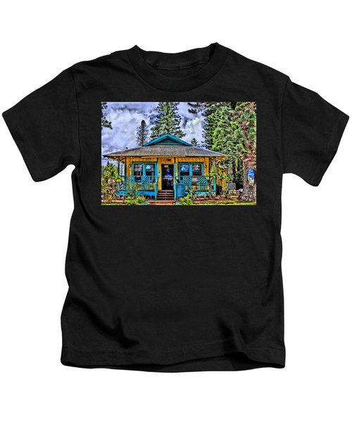 Pele's Lanai Island Hawaii Kids T-Shirt by DJ Florek