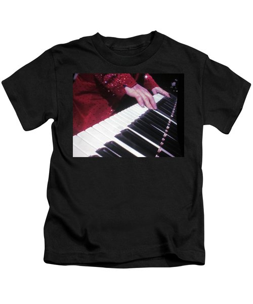 Piano Man At Work Kids T-Shirt by Aaron Martens
