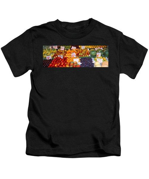 Pike Place Market Seattle Wa Usa Kids T-Shirt by Panoramic Images