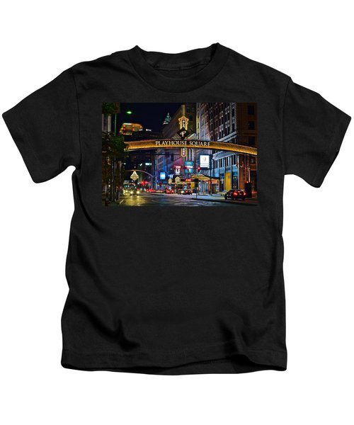 Playhouse Square Kids T-Shirt by Frozen in Time Fine Art Photography
