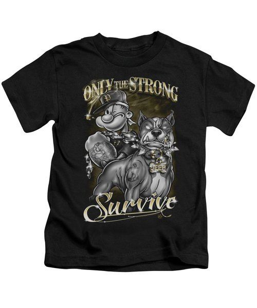 Popeye - Only The Strong Kids T-Shirt by Brand A