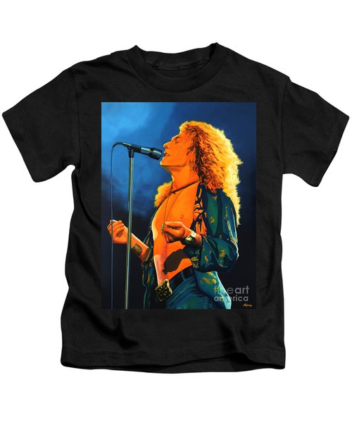 Robert Plant Kids T-Shirt by Paul Meijering