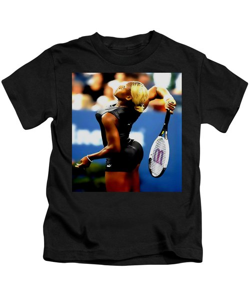 Serena Williams Catsuit II Kids T-Shirt by Brian Reaves