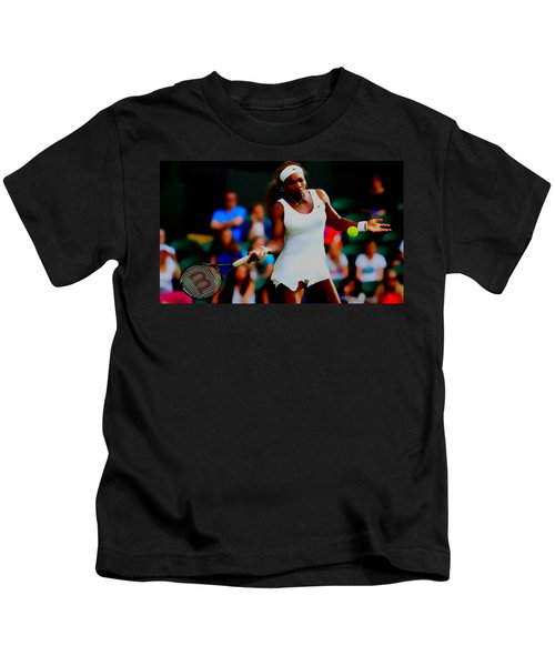 Serena Williams Making It Look Easy Kids T-Shirt by Brian Reaves