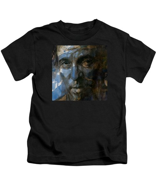 Shackled And Drawn Kids T-Shirt by Paul Lovering