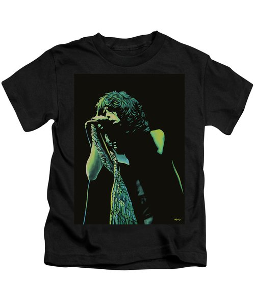 Steven Tyler 2 Kids T-Shirt by Paul Meijering