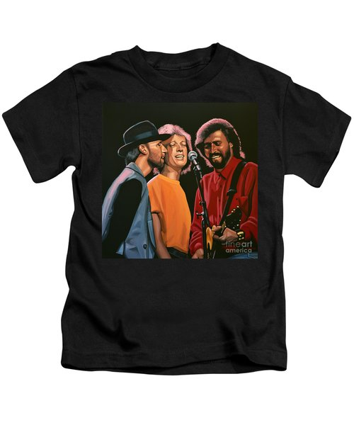 The Bee Gees Kids T-Shirt by Paul Meijering