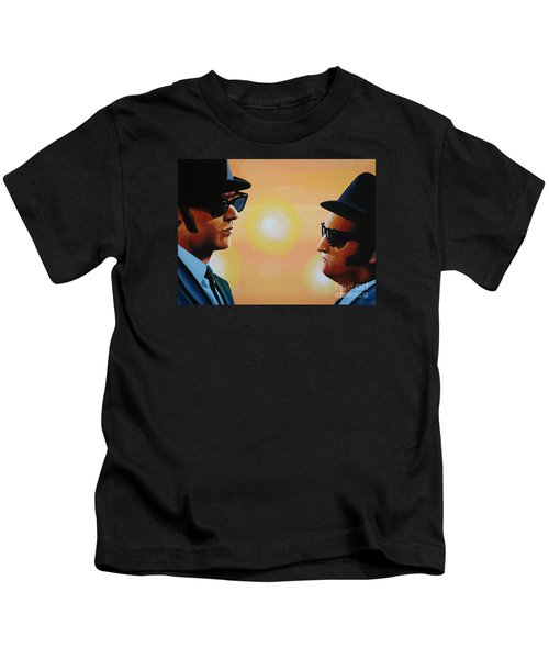 The Blues Brothers Kids T-Shirt by Paul Meijering