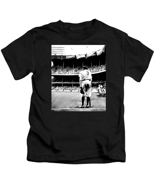 The Greatest Of All  Babe Ruth Kids T-Shirt by Iconic Images Art Gallery David Pucciarelli