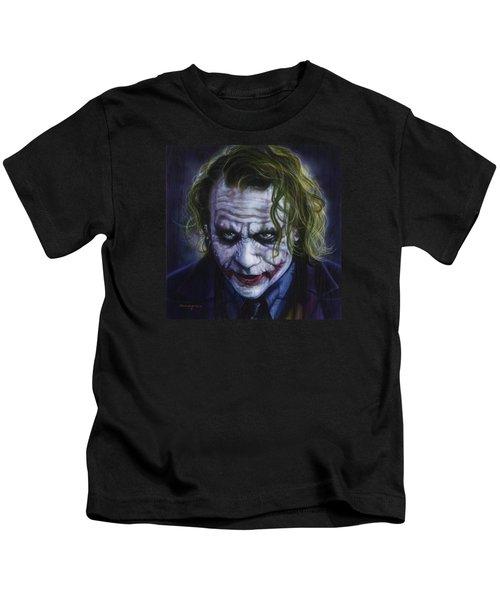 The Joker Kids T-Shirt by Tim  Scoggins